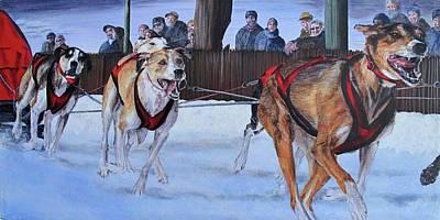 Harness Racing Painting - Sprint Racing By Karen Peterson by Karen  Peterson