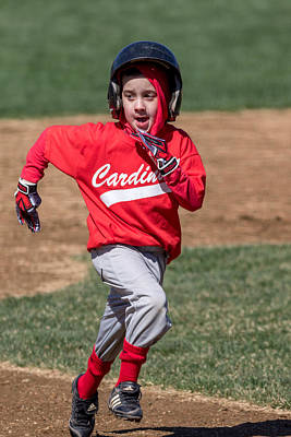 Photograph - Sprinting For Third by Mike Farslow
