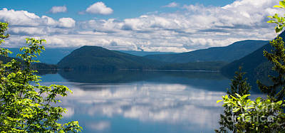 Photograph - Sproat Lake Reflection by Calvin Fannin