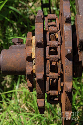 Photograph - Sprocket Chain Drive by Jennifer White