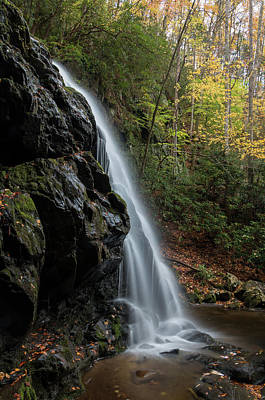 Photograph - Spruce Flats Falls Profile View by Chris Berrier