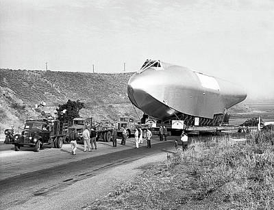 Spruce Goose Photograph - Spruce Goose Being Transported June 28 1946 by David Lee Guss
