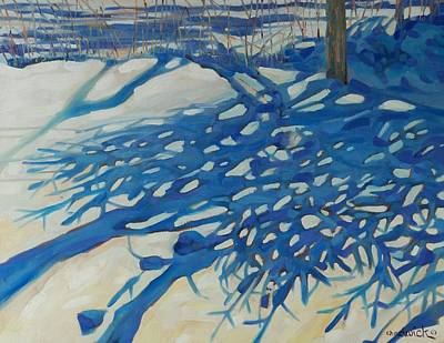 Painting - Spruce Shadows by Phil Chadwick