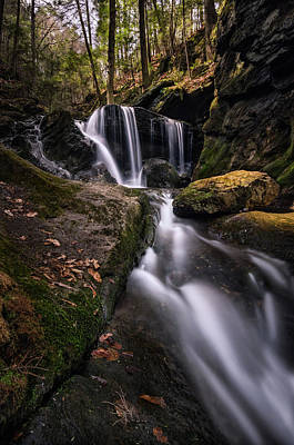 Photograph - Sprucebrook Falls In Beacon Falls, Ct by Craig Szymanski