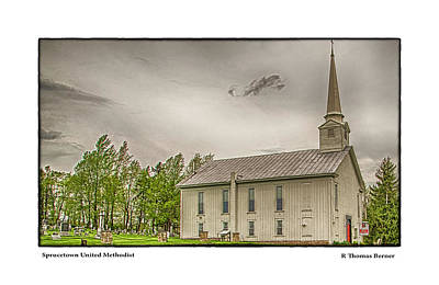 Photograph - Sprucetown United Methodist by R Thomas Berner