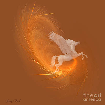 Spun From Gold Art Print by Corey Ford