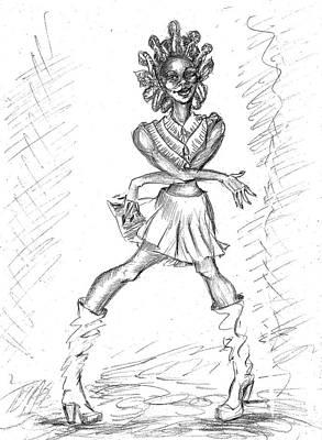 Spunky Funky  Art Print by Yelena Rubin
