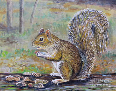 Painting - Spunky Squirrel by Lou Ann Bagnall