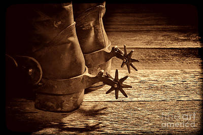 Photograph - Spurs  by American West Legend By Olivier Le Queinec