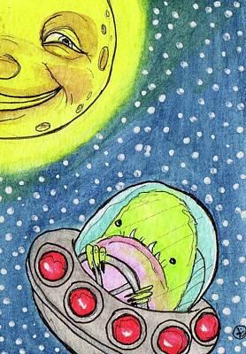 Painting - Sputnik by Julie McDoniel