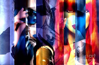 Digital Art - Spy Girl by John Rizzuto
