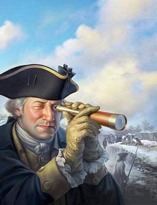 George Washington Digital Art - Spymaster George by Mark Fredrickson