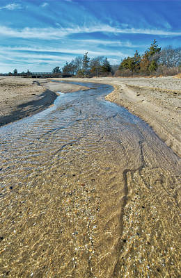 Photograph - Sandy Hook Tidal Stream by Gary Slawsky
