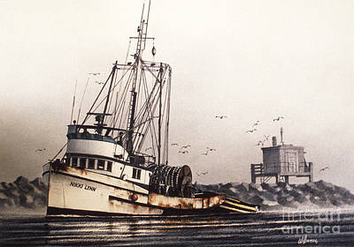 Williamson County Painting - Squalicum Harbor by James Williamson