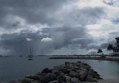 Photograph - Squall In Simpson Bay St Maarten by Christopher Kirby