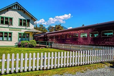 Photograph - Squamish Rail Station by Rick Bragan
