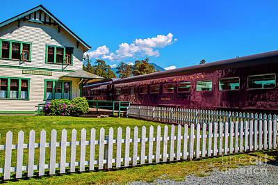 Photograph - Squamish Rail Station by Rick Bragan