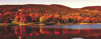 Photograph - Squantz Pond In Autumn by Library Of Congress