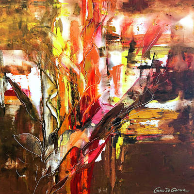 Painting - Square Abstract 633 by Gina De Gorna