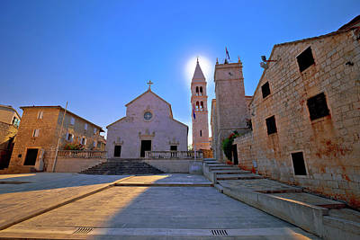 Photograph - Square And Church View In Supetar At Sunset by Brch Photography