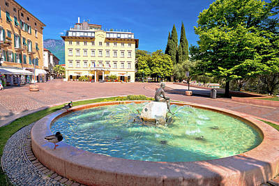 Photograph - Square And Fountain In Riva Del Garda by Brch Photography
