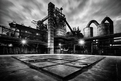 Photograph - Square At Landschaftspark Duisburg Bw by Dirk Ercken