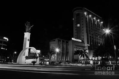 Photograph - square Buon Me Thuot city by Tran Minh Quan