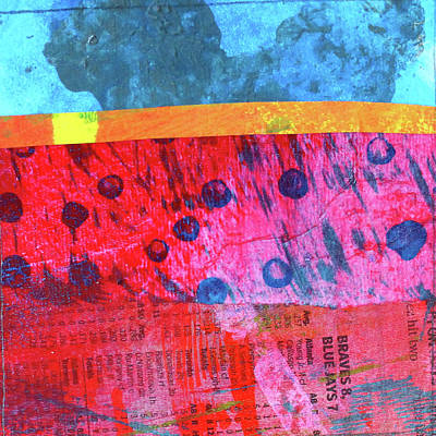 Painting - Square Collage No. 12 by Nancy Merkle