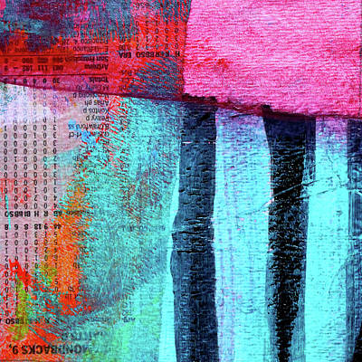 Painting - Square Collage No 4 by Nancy Merkle