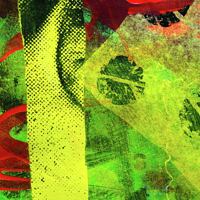 Mixed Media - Square Collage No. 8 by Nancy Merkle