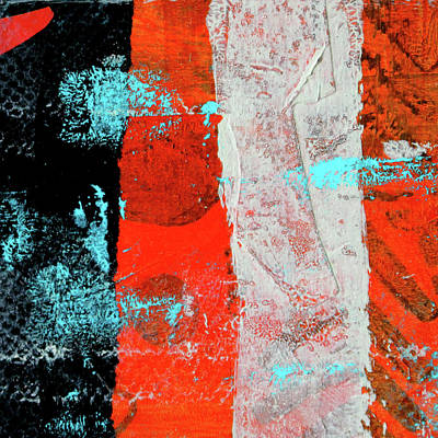 Contemporary Abstract Mixed Media - Square Collage No. 9 by Nancy Merkle