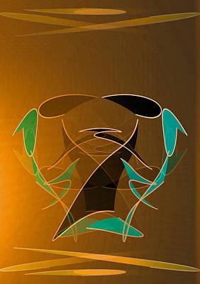 Contemporary Abstract Digital Art - Square Dance by John Krakora