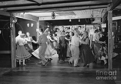 Square Dancing, C.1950s Art Print