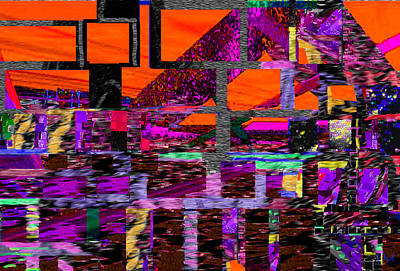 Digital Art - Square Line 43 by Phillip Mossbarger