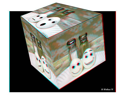 Square Meal - Use Red-cyan 3d Glasses Art Print