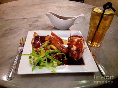 Photograph - Square Meal With Cocktail by Joan-Violet Stretch