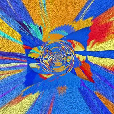 Digital Art - Square Rainbow by Halina Nechyporuk