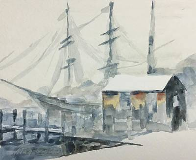 Painting - Square Rigger by Stan Tenney