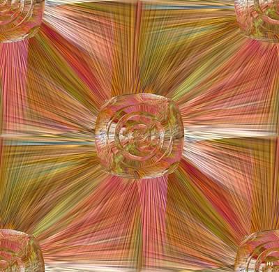 Digital Art - Square Rose by Halina Nechyporuk