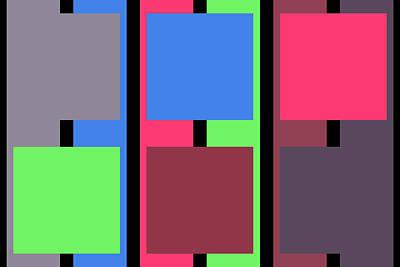 Square Stripe  - Zentao Art Print