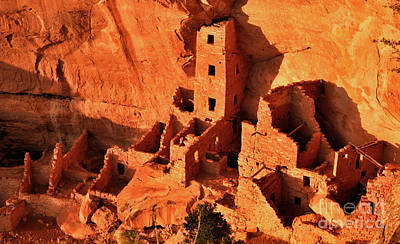 Pueblo Architecture Photograph - Square Tower House by Jim Chamberlain