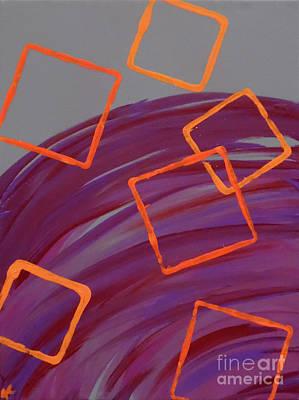 Abstract Handbag Painting - Squared by Jilian Cramb - AMothersFineArt