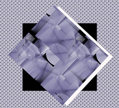 Digital Art - Squares And Circles In Violet 2 by Iris Gelbart