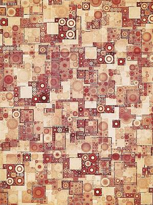 Geometric Digital Art - Squares And Circles  by Sandy Taylor