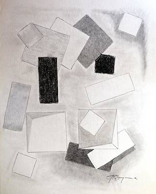 Drawing - Squares And Shadows by J R Seymour