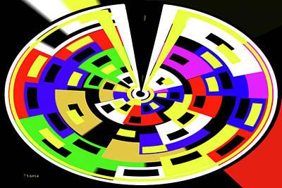 Digital Art - Squares Color Panels  by Tom Janca