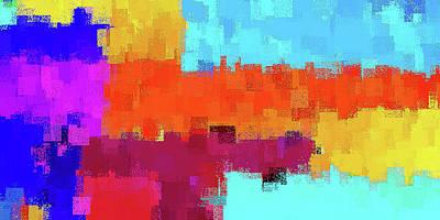 Mixed Media - Shore Squares by David Manlove