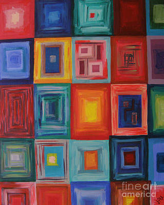 Painting - Squares by Julia Underwood