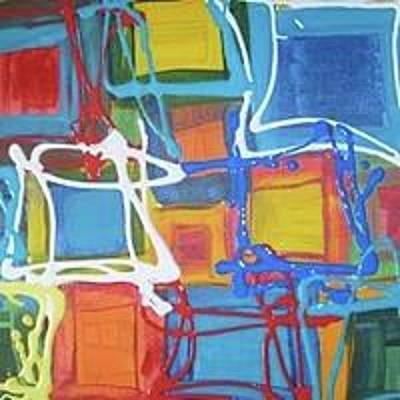 Painting - Squares by Sarah LaRose Kane