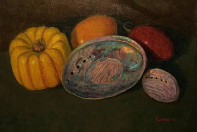 Painting - Squash And Paua by Terry Perham